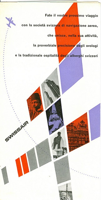 Swissair Brochure 1953, via David Levine
