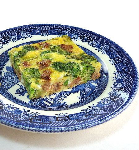 One Perfect Bite: Baked Broccoli and Sausage Frittata