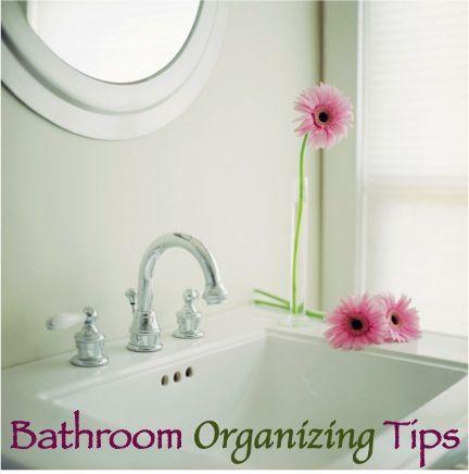 8 Ways to Get Your Bathroom Organized!  TheFrugalGirls.com #bathroom #organization