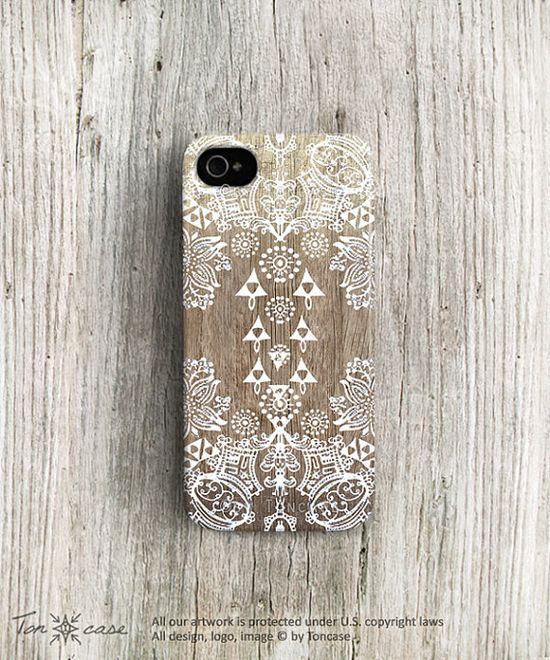 Tribal iPhone case lace iPhone 4 case iPhone 4s case designer iphone 5c case painting wood iPhone 5s case gradient iphone 5 case boho c263