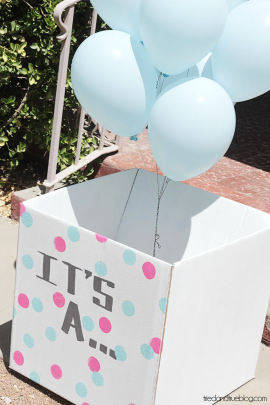 Share the surprise with those you love! Gender Reveal Balloons from Tried & True