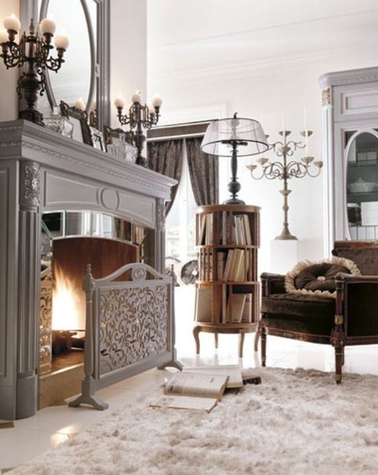 Aesthetic and Wonderful Fireplace Models of Luxurious Home Office design