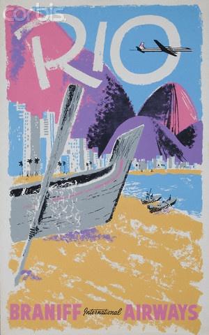Rio Braniff International Airways Poster