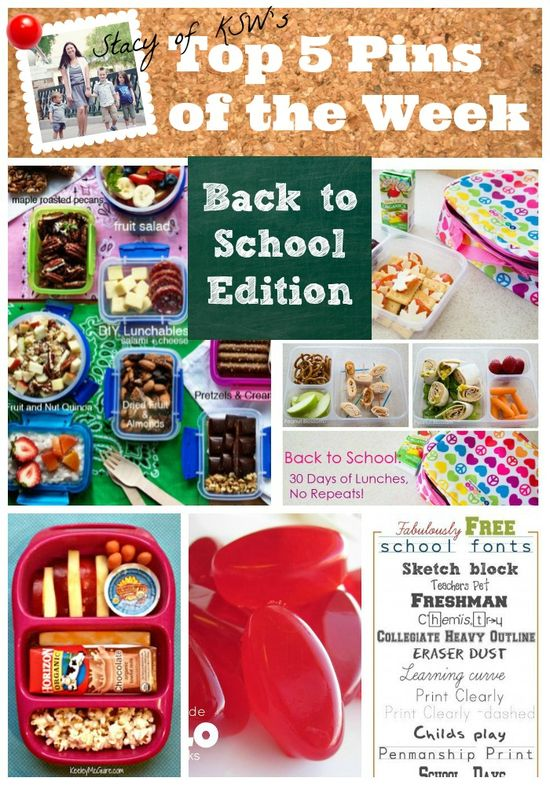 The most popular back to school lunch ideas on Pinterest right now - plenty of healthy, sandwich alternatives. Many gluten-free and nut free as well, perfect for kids who have allergies or have friends who do.