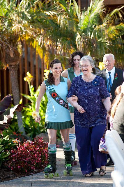 ROLLER DERBY WEDDING USHERS!!
