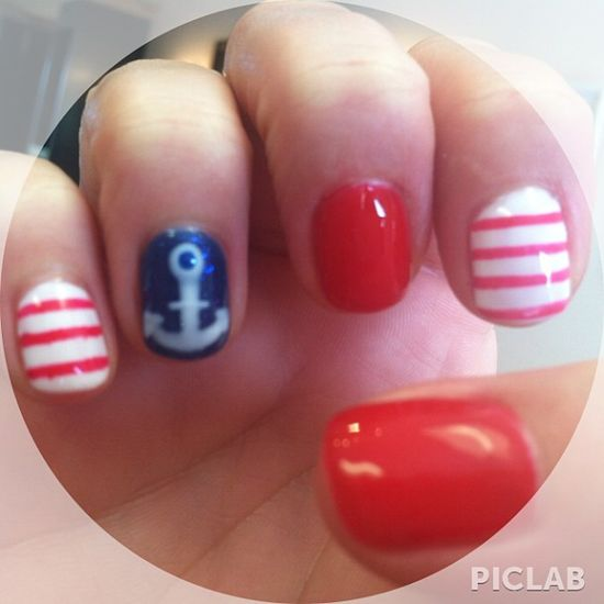 lisaalunkal's festive tips. Show us your 4th of July-inspired nails! Tag your pic #SephoraNailspotting to be featured on our social sites.