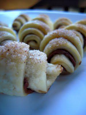 ? Nutella Pie Crust Crescents