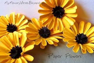 Handmade Paper Flowers - Yellow Daisy