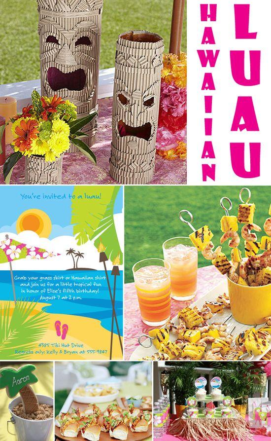 Hawaiian luau party... links to more ideas