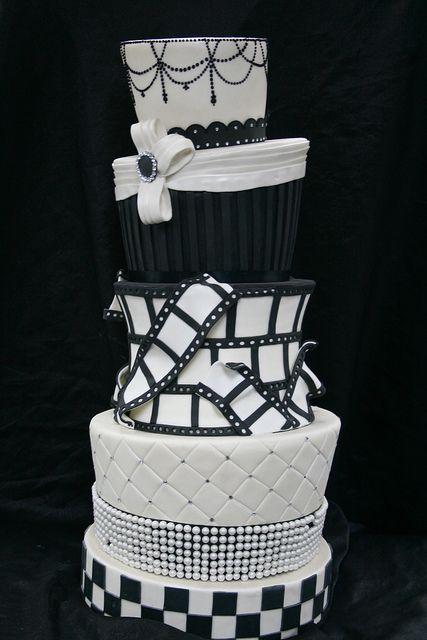 Hollywood Wedding Cake Display by Gimme Some Sugar (vegas!), via Flickr