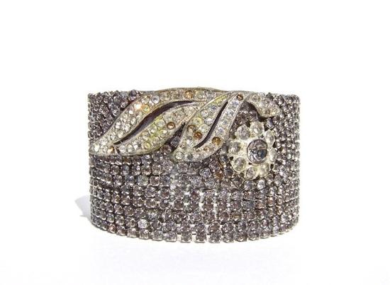 Vintage Rhinestone Bracelet by by dabchickvintagegems on Etsy