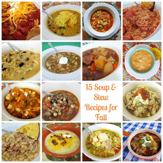 15 soup & stew recipes for Fall. Lots of other good looking stuff on her blog.