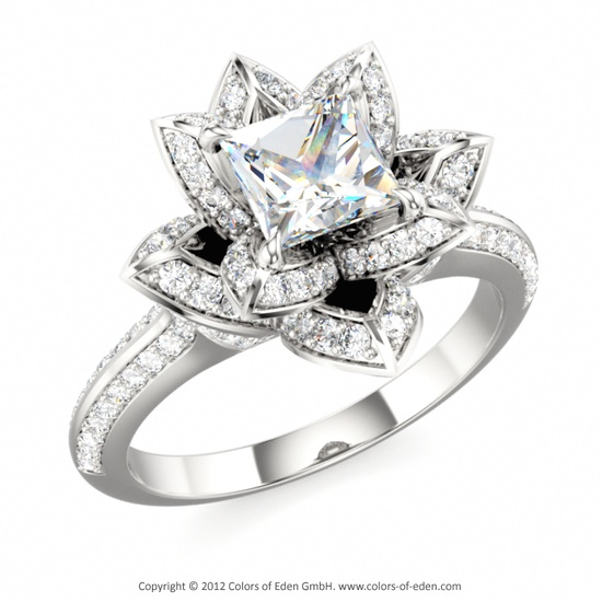 Diamond Lotus Ring #Diamonds