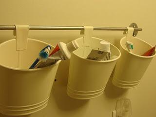 bathroom organization - Girls' Bath (Ikea)