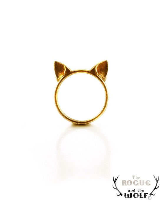 Gold Cat Ears Ring. $49.00.