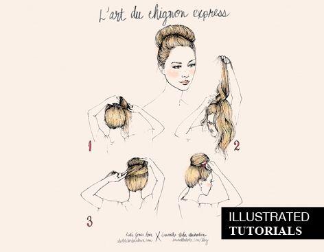 BEAUTY: ILLUSTRATED HAIR TUTORIALS
