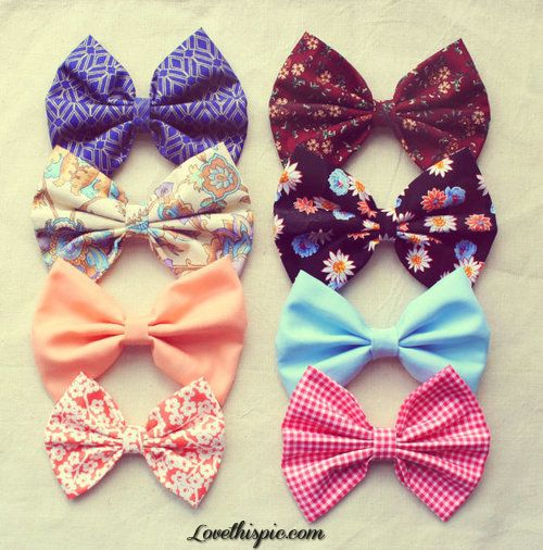 Cute Hair Bows girly cute hair bows style accessories