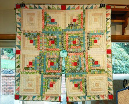 star log cabin #quilt Christmas tree skirt