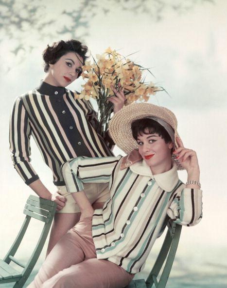 Stylish 1950s springtime stripes. #vintage #1950s #fashion #spring