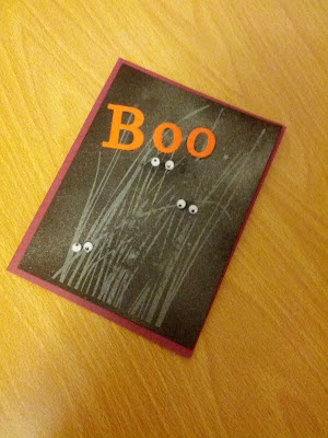 Handmade Halloween card inspiration (sorry, no tutorial)