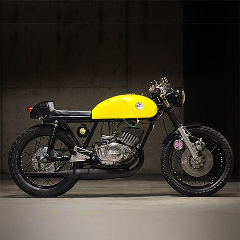 Suzuki GT250 custom: small, but perfectly formed.
