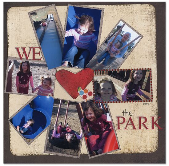 We Love the Park - Scrapbook.com - #scrapbooking #layouts