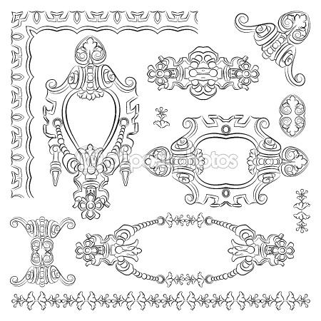 Ornate vintage decorative design heraldic element by Olesya Karakotsya - Stock Vector