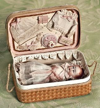 antique baby doll in presentation case ... c. 1910