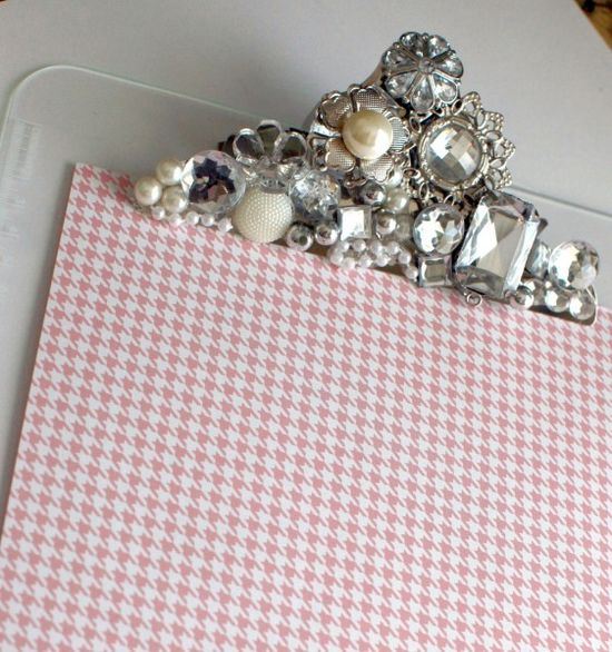 bling clipboard to display paper goods
