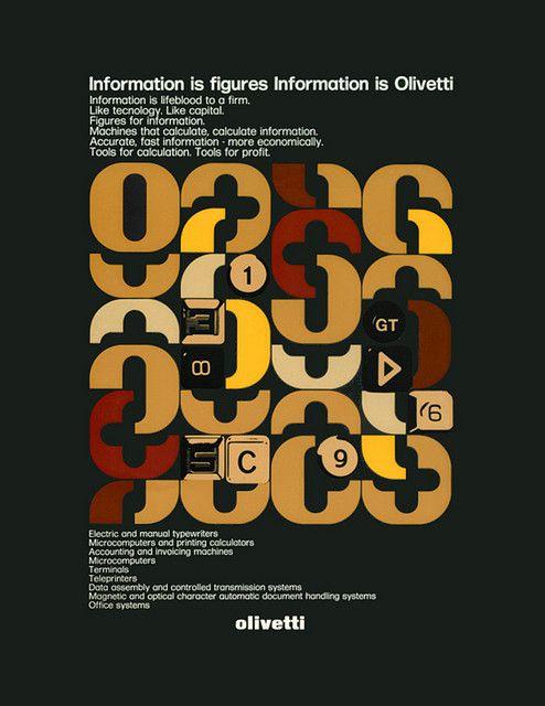 Olivetti Poster designed by Franco Bassi