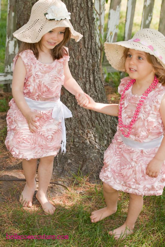 pink flower girls