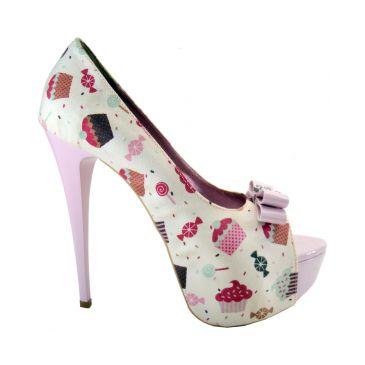 Sapatos peep toe pink lindo