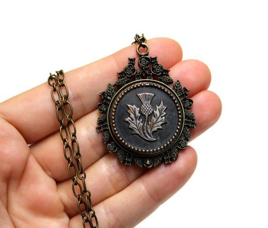 Thistle Necklace by ChatterBlossom  #antique #thistle #scotland #jewelry