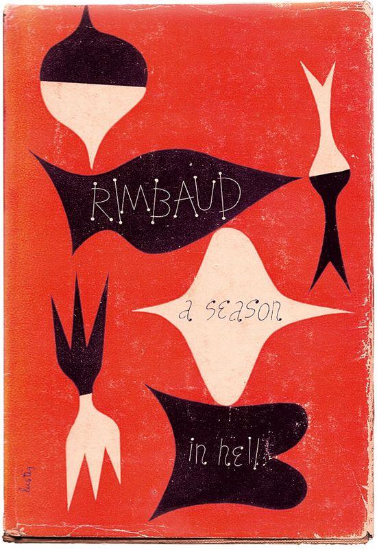 A Season In Hell (book cover), par Alvin Lustig, 1945.