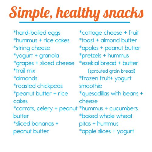 Healthy kids' snacks