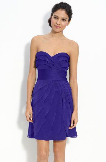 Adrianna Papell Tiered Iridescent Chiffon Dress #wedding