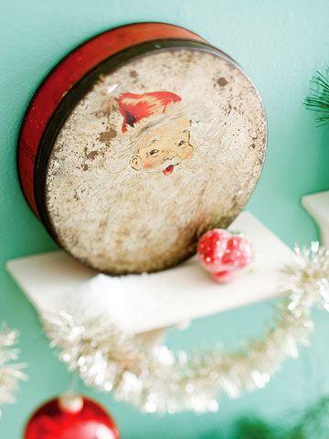 vintage santa tin...