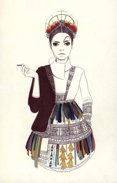 camila do rosário, another great fashion illustration.