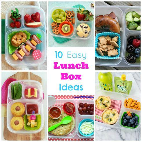 10 easy lunchbox ideas.