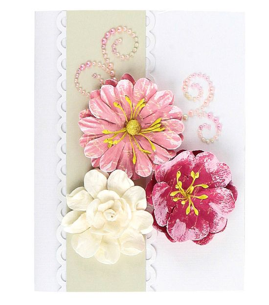Pretty handmade flower card!  Perfect for many occasions! #creativitymadesimple