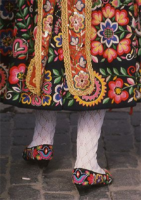 Detail of traditional dress from Spain