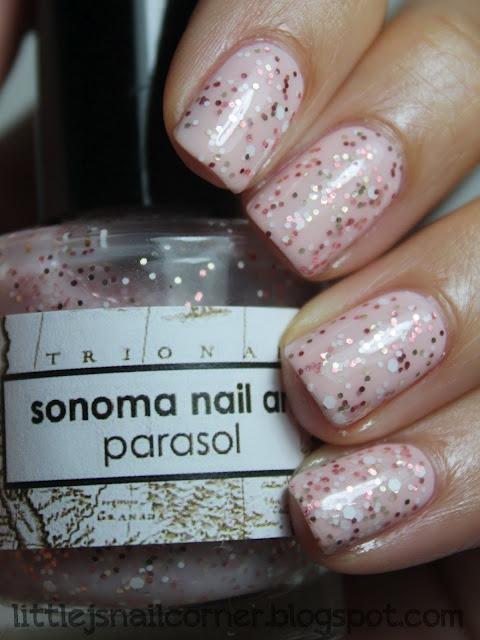 Little J's Nail Corner: Jessica Summer Lovin' & Sonoma Nail Art Parasol