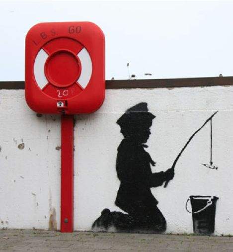 Awesome Banksy Graffiti Drawings