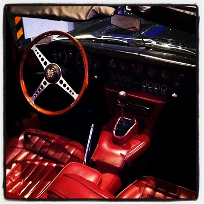 red car interior done right.