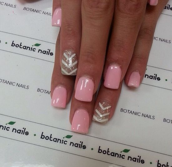Soft pink and chevrons.