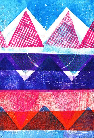 Press print and digital triangles - Sarah Bagshaw