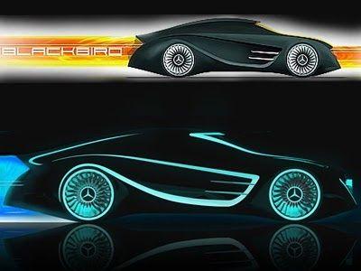 Mercedes Benz Concept Car - Blackbird Tron #celebritys sport cars #sport cars