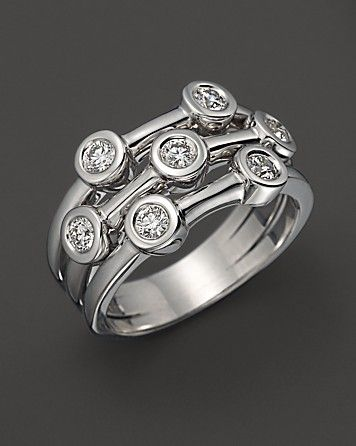 Roberto Coin Exclusive 18K White Gold Diamond Bezel Ring - Roberto Coin - Featured Designers - Fine Jewelry - Bloomingdale's