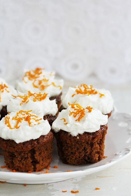 Beautiful, highly delicious sounding Carrot Muffins with Ricotta Cheese and Orange Zest. #cooking #food #beautiful #baking #dessert #cupcakes #oranges #carrot #muffins #breakfast
