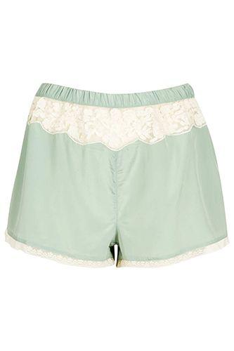 Topshop Vintage Style Pyjama Shorts, $44, available at Topshop.